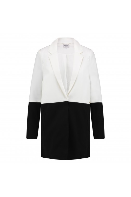 Tailor & Elbaz Long blazer, Briony in black&white