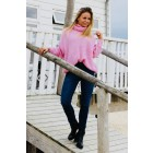 Oversized coltrui in zacht pink