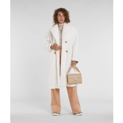 Josh V Madelynn teddy coat in whisper white - lang