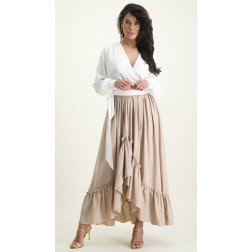 It's Given Ruth maxi skirt in beige