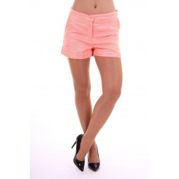 Jacky Luxury short in coral & peach