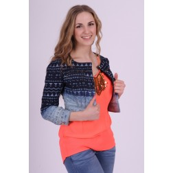 Relish Jeansjacket Millie in aztek